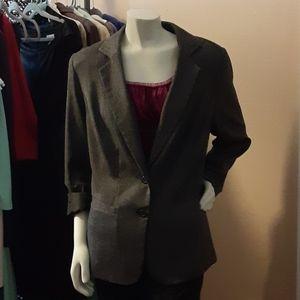 Lane Bryant Grey/White Suit Jacket NWOT sz 18